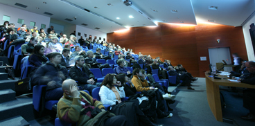 Meeting participants in the Auditorium of Sardegna Ricerche