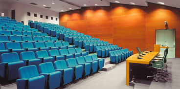 Auditorium of the main campus of Sardegna Ricerche