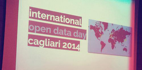 "Scritta ""International Open Data Day - Cagliari 2014"""