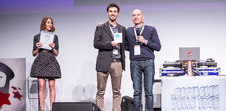 Paolo Zurru, creator of My Solar Family, receives the award